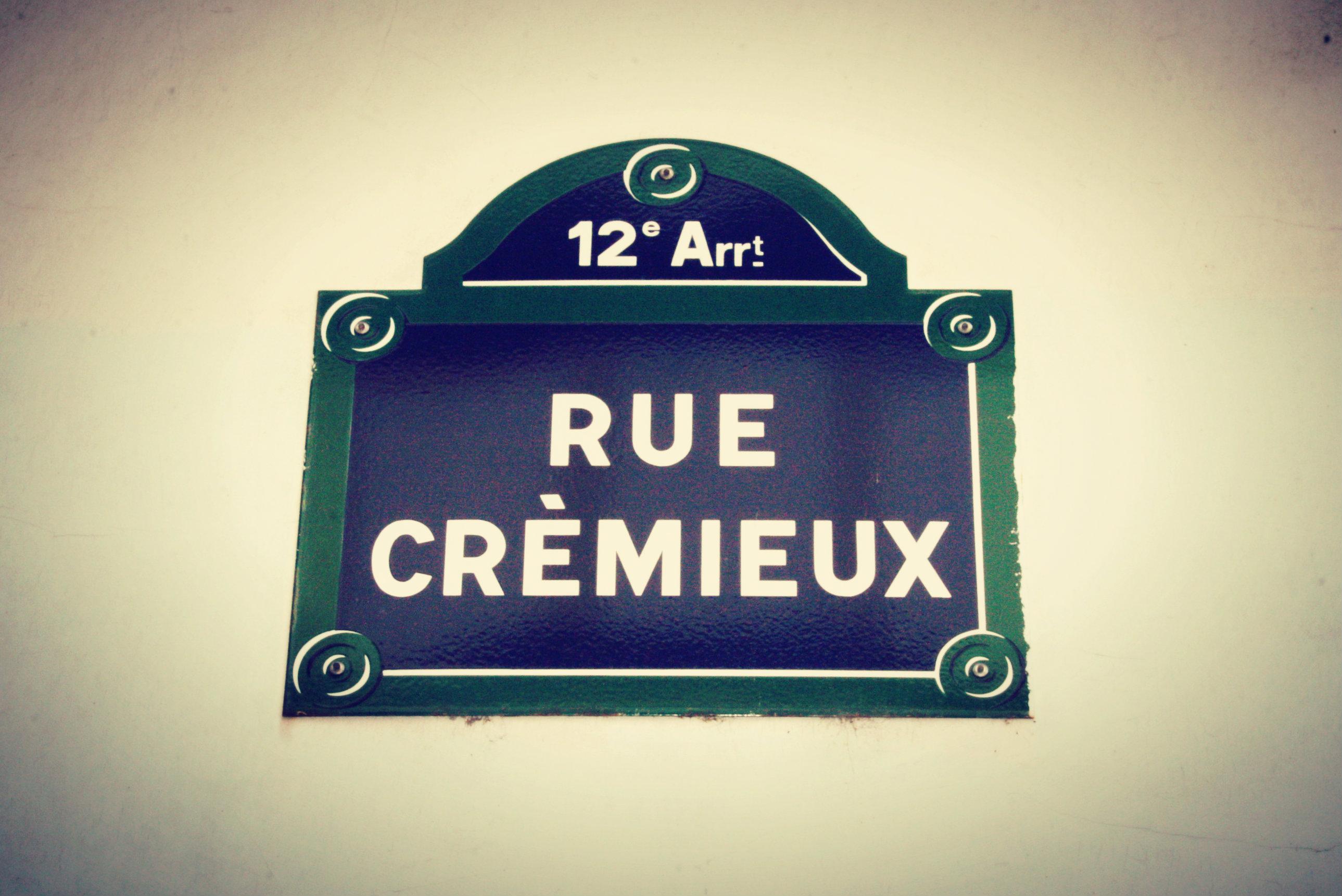 Rue Cremieux Sign