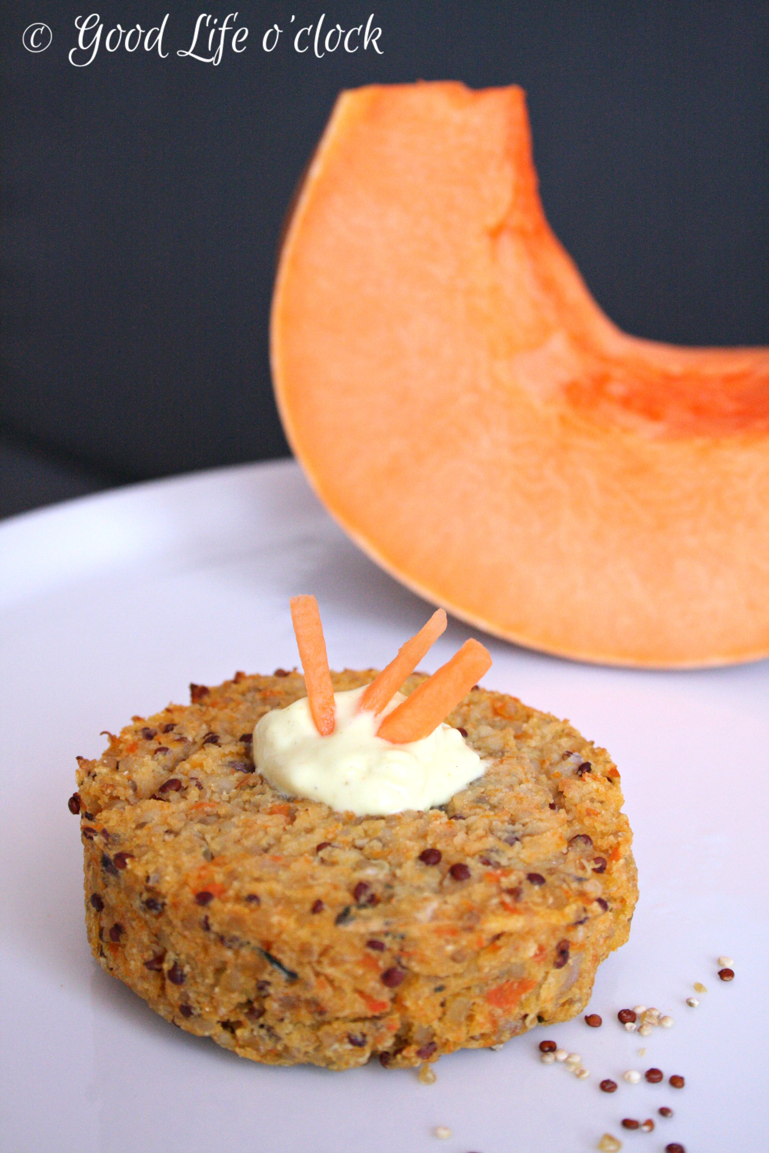 Vegan Quinoa Pumpkin Burger