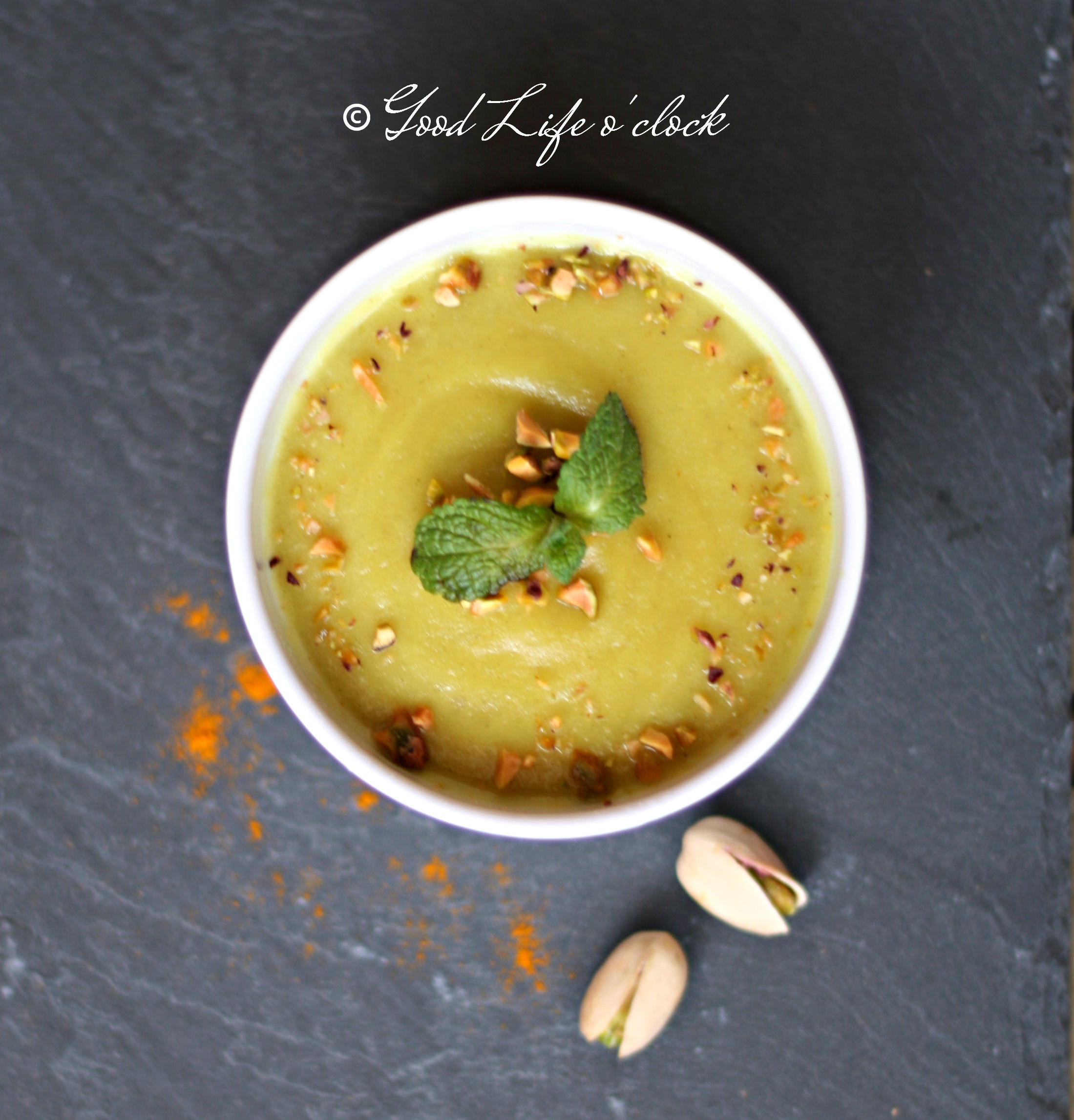 Creamy Soup Topinambur Saffron Pistachio